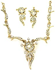AUSTRIAN DIAMOND NECKLACE SET BY ZAVERI PEARLS-ZPFK1109