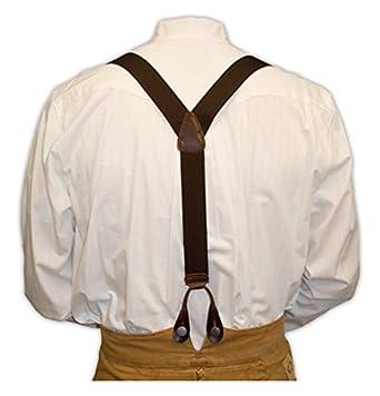 Men's Vintage Style Suspenders Elastic Y-Back Braces $25.95 AT vintagedancer.com