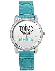 Bigowl Today You Will Shine Typography Analog Women's Wrist Watch 2003748603-RS3-S-TEA