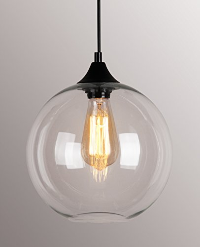 kitchen glass pendant lighting permo 174 1 light indoor clear glass globe orb shade 4914