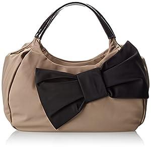 kate spade new york Petal Drive Kerra Shoulder Bag,Warm Putty/Black,One Size