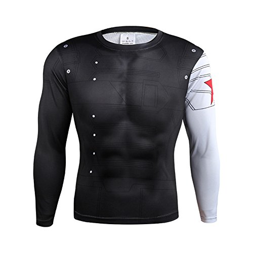 Black & White Winter Soldier Sports Shirt Cycling Jersey