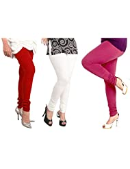 Lux Womens Combo Of Cotton Leggings (Set Of Three) - L 12-10-04