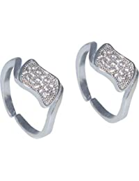Kataria Jewellers Contemporary Silver Toe-Rings For Women - B01DVPCMW4