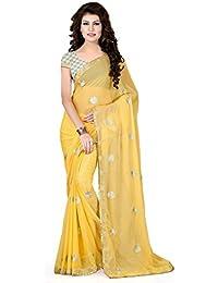 311d700051 Chiffon Sarees Party Wear/Fancy Chiffon Sarees/Printed Chiffon Sarees –  Blonde Yellow