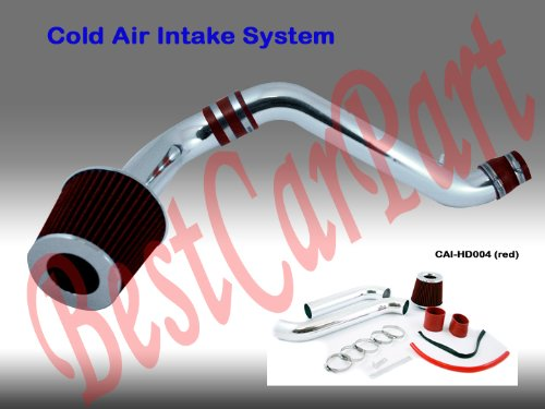 94 95 96 97 98 99 00 01 02 Honda Accord 4 CYL Cold Air Intake Red (Included Air Filter) #Cai-hd004r