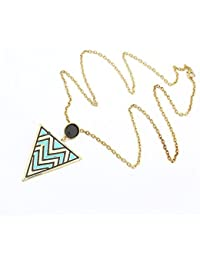 Habors Blue Tribal Pendant Necklace For Women JFND0478