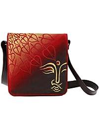 Hand-painted Buddha Leavess Sling Bag