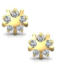 Avsar Real Gold And Diamond Manipur Earrings AVE006