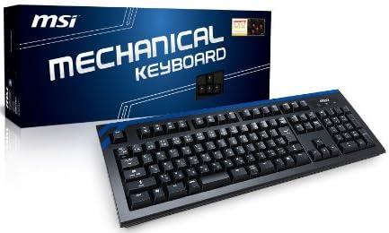 MSI CK-Seriesゲーミングキーボード チェリー赤軸搭載Nキーロールオーバー対応(PS/2 全キー・USB 6キーまで) 日本正規代理店品 KB257 CK-601JP