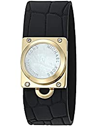 "Michael Kors ""Access Activity Tracker"" Reade Croco Embossed Silicone Black Bracelet"