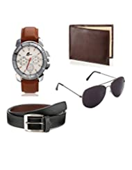Arum Special Combo Of BrownWatch,Wallet &Sunglass With Belt Combo AWWSGB-001