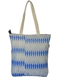 Pick Pocket Women's Tote Bag (Blue & Grey)