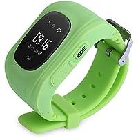 ClikWing Smart Kid Safe GPS Watch Wristwatch SOS Call Location Finder Locator Tracker Green
