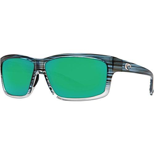 ee404761487 Costa Del Mar Cut Adult Polarized Sunglasses Topaz Fade Green Mirror Glass  W580