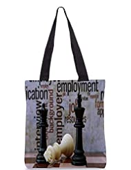 Snoogg Chess And Employment Concept Designer Poly Canvas Tote Bag