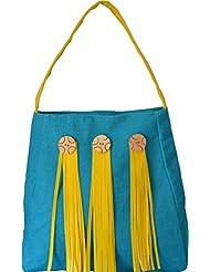 Earthen Me Jute Fashion Handbag (Blue)