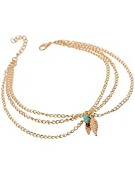Young & Forever Valentine Gift Special The Leaf Charm Armlet For Women By CrazeeMania