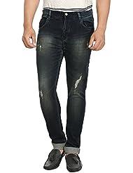 Fever Dark Blue Lycra Denim Light Washed Jeans