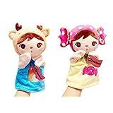 Candy Girl & Bear Girl Hand Puppets For Kids, 24 Cm