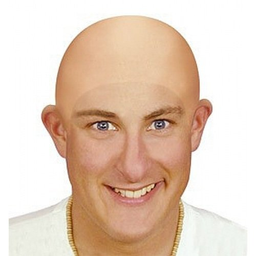Great Group Halloween Costumes: The Addams Family - Adult Uncle Fester Bald Head Cap