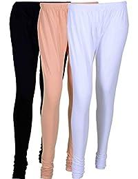 Cotton Leggings (Culture The Dignity Women's Cotton Leggings Combo Of 3_CTDCL_BCW_BLACK-CREAM-WHITE_FREESIZE)