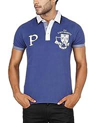 Paani Puri Men's Cotton Polo (Royal Blue) - B00N1NUX46