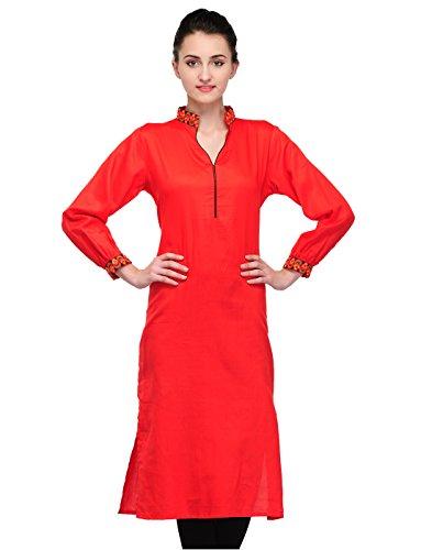 Cenizas Casual Full Sleeve Solid Women's Kurti - B00QADH12G