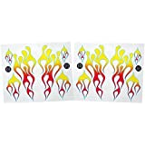 KA Mixer Decal Kit ClassicMix Double Stickers Flame Cover Red, Orange, And Yellow With Blue Trim, Designed To...