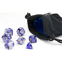 Polyhedral Dice Set | Indigo Swirl | 7 Piece | PRISTINE Edition | FREE Carrying Bag | Hand Checked Quality