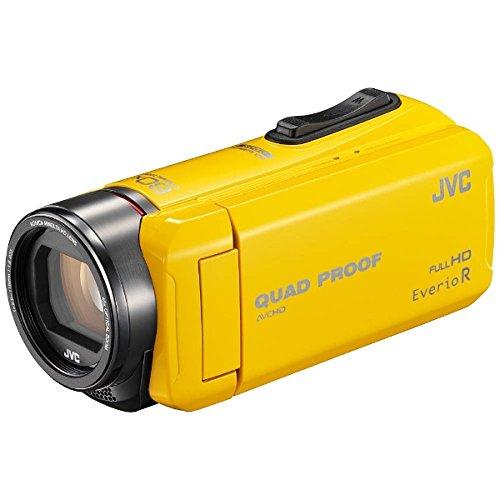 JVC ビデオカメラ Everio R  防水5m 防塵仕様 耐低音 耐衝撃 内蔵メモリー32GB イエロー GZ-R400-Y