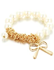 Hot And Bold Sparkling Fashionable Pearl Gold Plated Bangles & Bracelets For Women & Girls. Free Size. Designer...