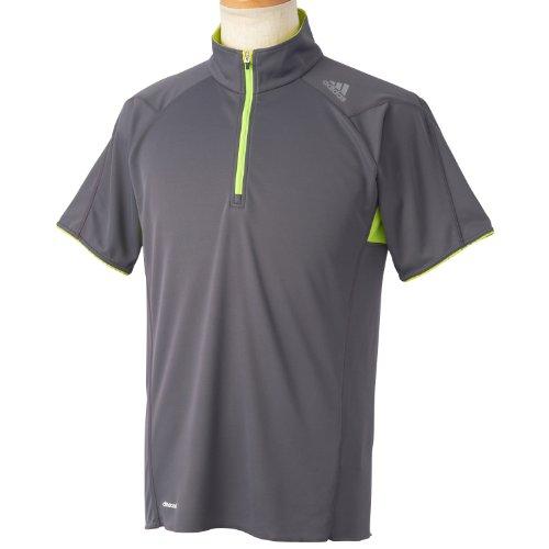 (アディダス)adidas 叶衣 ハーフジップTシャツ S/S DDW38 F92970 シャープグレーF11 J/M