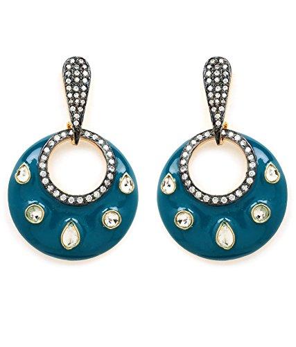 Akshim Multicolour Alloy Earrings For Women - B00NPY7FLK