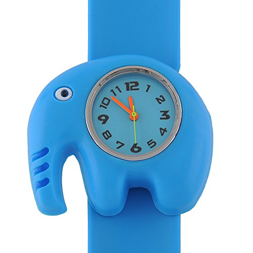 {Factory Direct Sale} Bendable Cartoon Gel Unisex Children Quartz Sports Watch Christmas Gift - Elephant - Christmas Gift