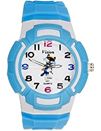 Vizion Analog Multi-Color Dial ( Toli-The Golfer Cat) Cartoon Character Blue Watch For Kids- 8565AQ-5-2