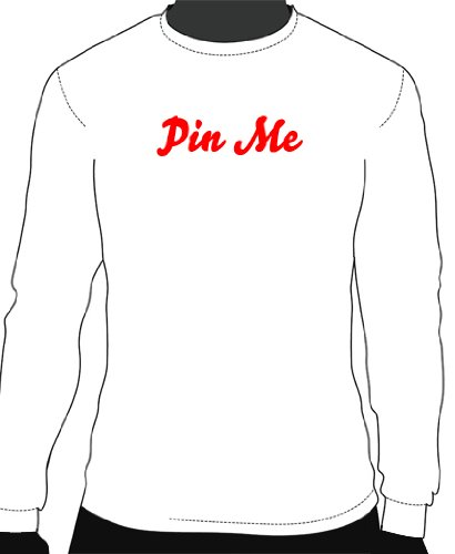 Pinterest – Pin Me Printed Longsleeve Tee – White| Adult Small