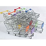 Banggood Kids Home Kitchen Shopping Double Layer Trolley Toy Creative Gift Sky Blue