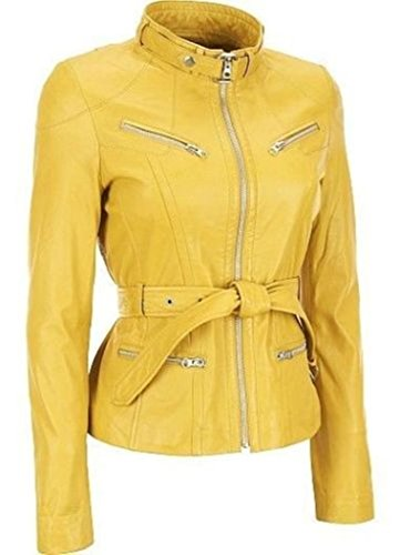 color leather jackets for women