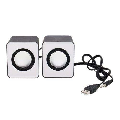 Fahion Modern Computer Desktop Mini Speaker Black And White