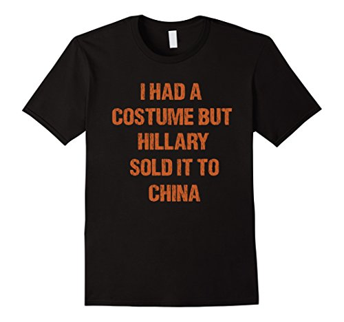 Trump and Clinton Halloween Costumes - Choose Edgy or Funny - Men's Funny Hillary Halloween T-Shirt Black