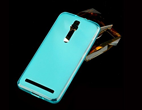 Best Deals - Brand New Premium Silicon Soft Back Case Cover For Asus Zenfone 2 5.5 Inches- Blue