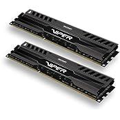 Patriot Viper 3 Series Black Mamba DDR3 8GB 2 X 4GB 1600MHz Dual Channel Kit PV38G160C9K
