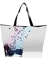 Snoogg Music Comes From The Headphones Designer Waterproof Bag Made Of High Strength Nylon