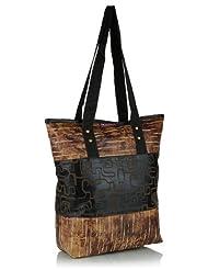 Home Heart Women's Eco Friendly Tote Bag (Brown/Black)