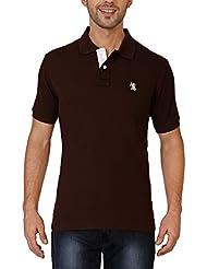 The Cotton Company Men's Luxury Cotton Polo T Shirt - Brown