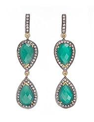 Amethyst By Rahul Popli Green Silver Stud Earrings