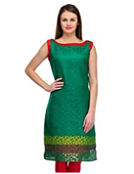 Cenizas Casual Sleeveless Self Design Women's Kurti - B00YHH587M