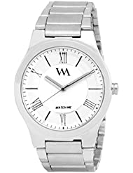 WATCH ME WHITE BROWN LEATHER ANALOG WATCH FOR MEN AND BOYS WMAL-021-W