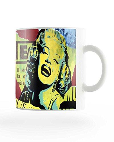 PosterGuy Marilyn Monroe Colourful Designer White Ceramic Coffee Mug